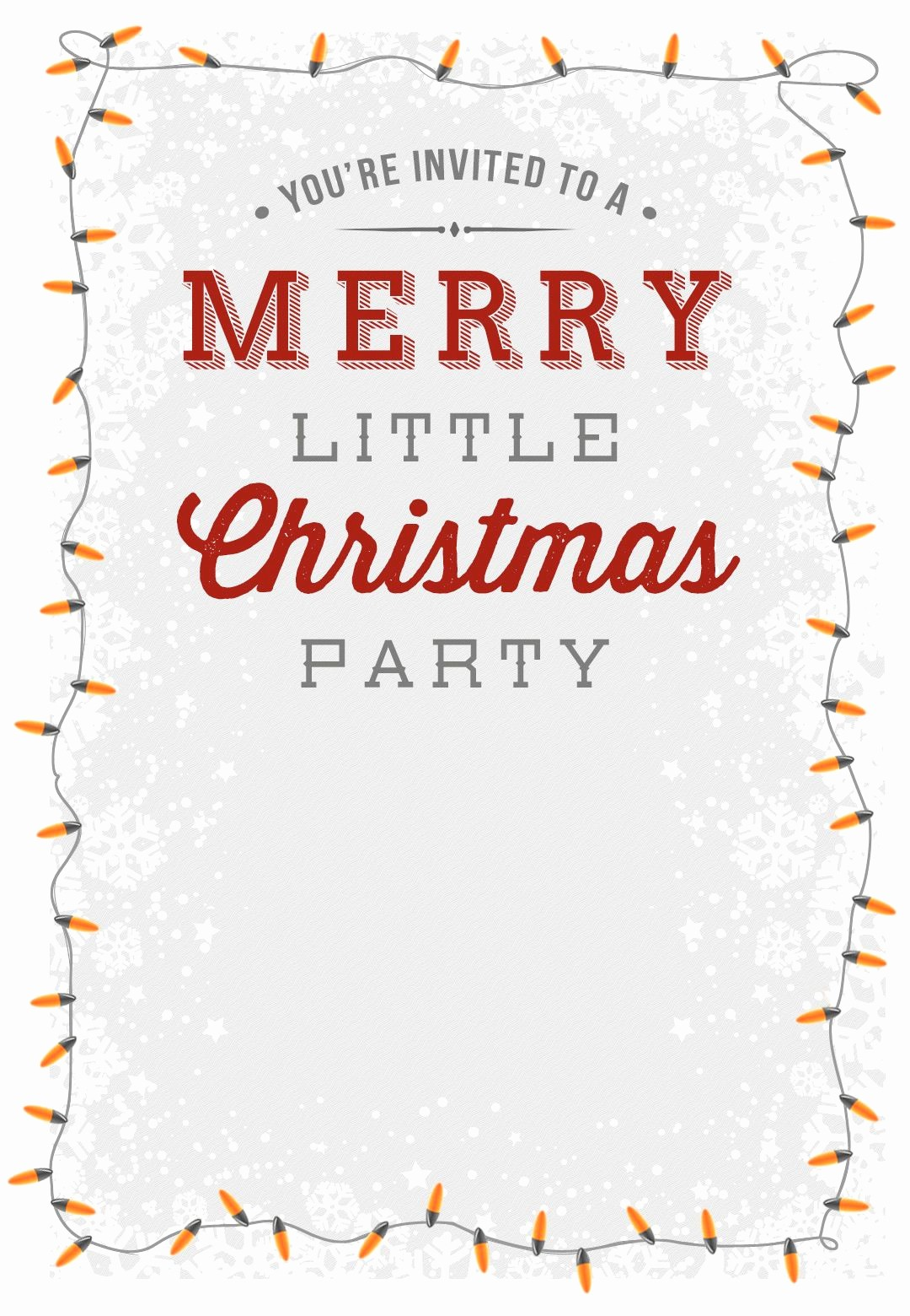 Christmas Party Invitations Free Template Fresh A Merry Little Party Free Printable Christmas Invitation