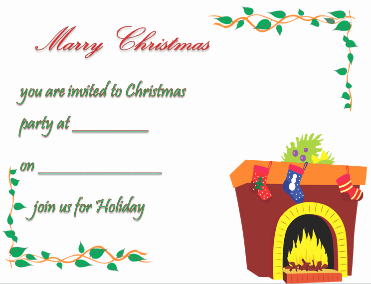 Christmas Party Invitations Free Template Fresh Christmas Party Invitation Template Free & Printable