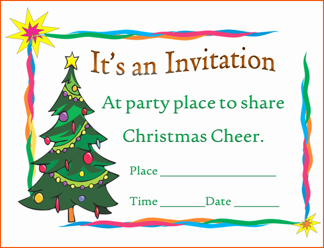 Christmas Party Invitations Free Template Lovely 7 Christmas Invitation Template Bookletemplate