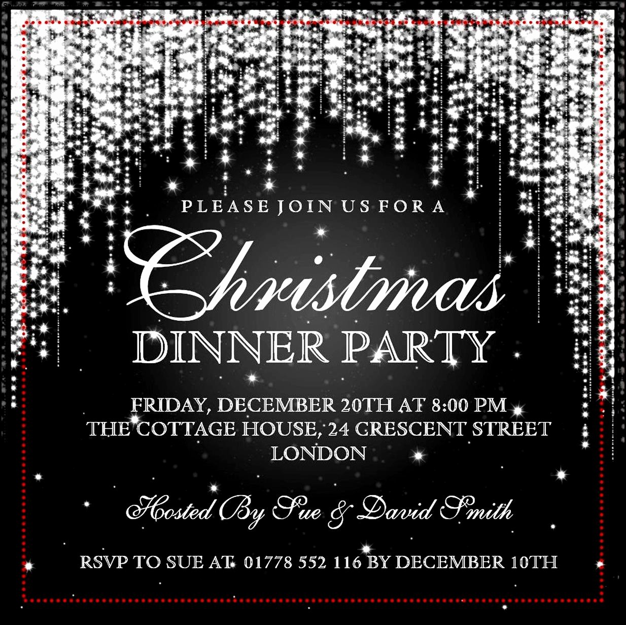 Christmas Party Invitations Free Template Lovely Christmas Invitation Template
