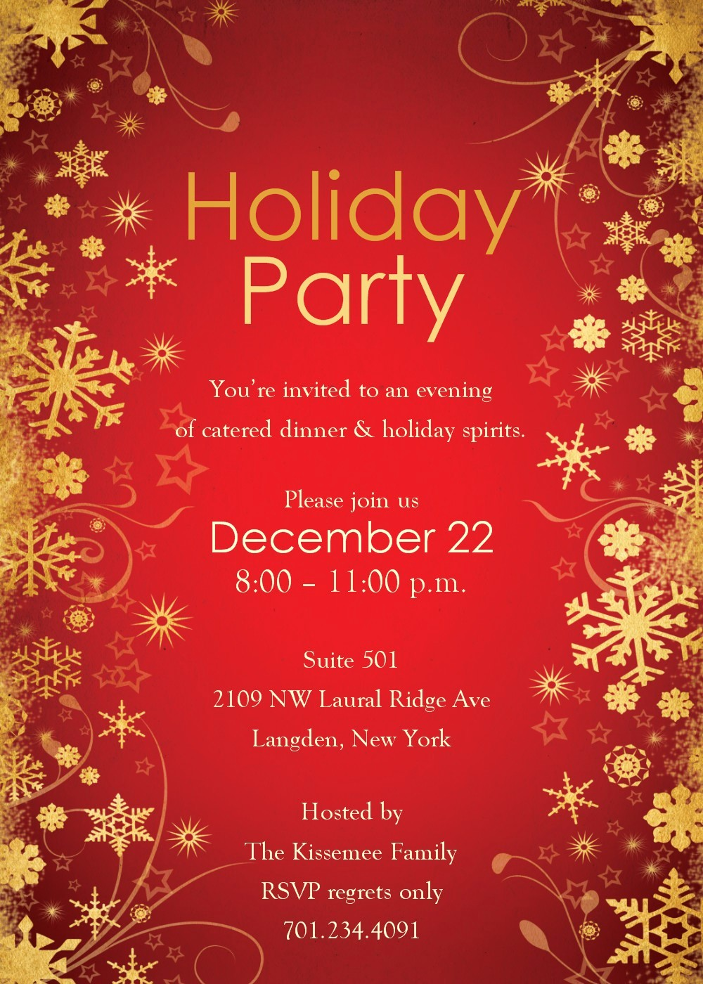 Christmas Party Invitations Free Template Lovely Free Holiday Party Invitation Templates