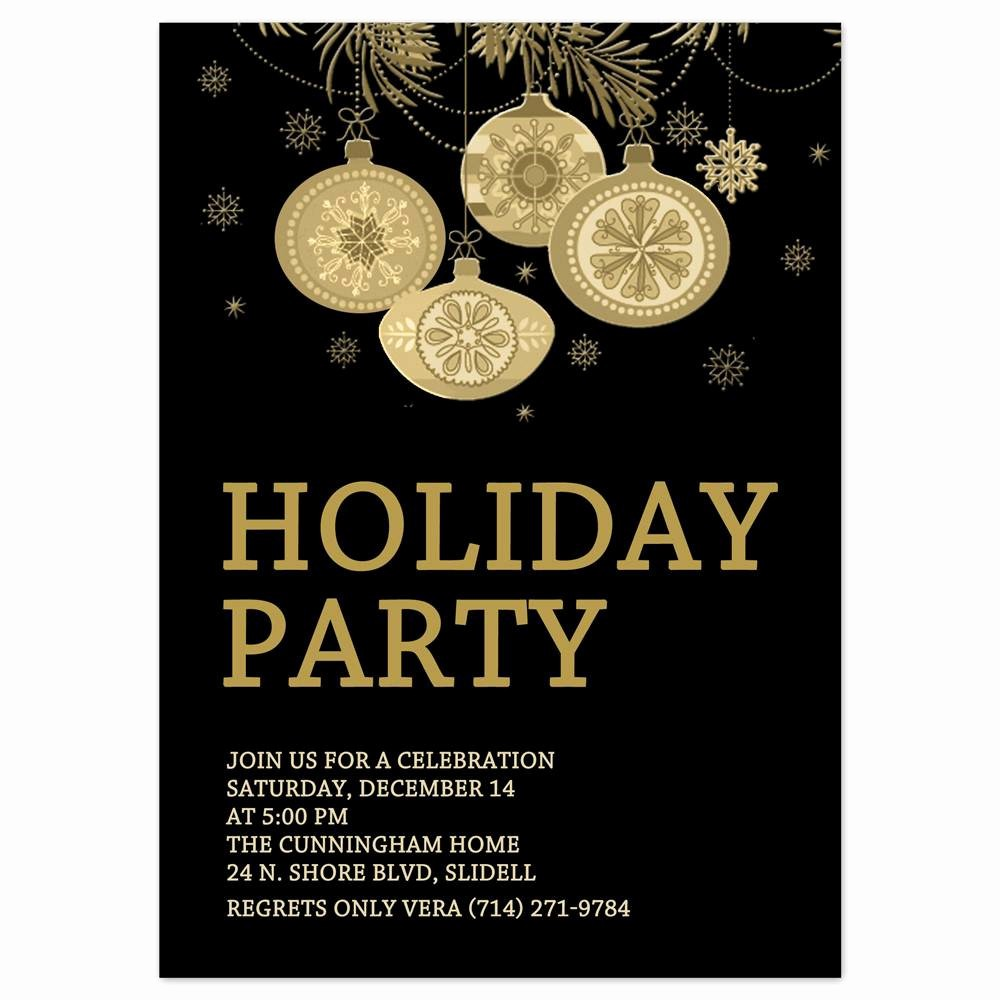 Christmas Party Invitations Free Template Lovely Holiday Party Invites
