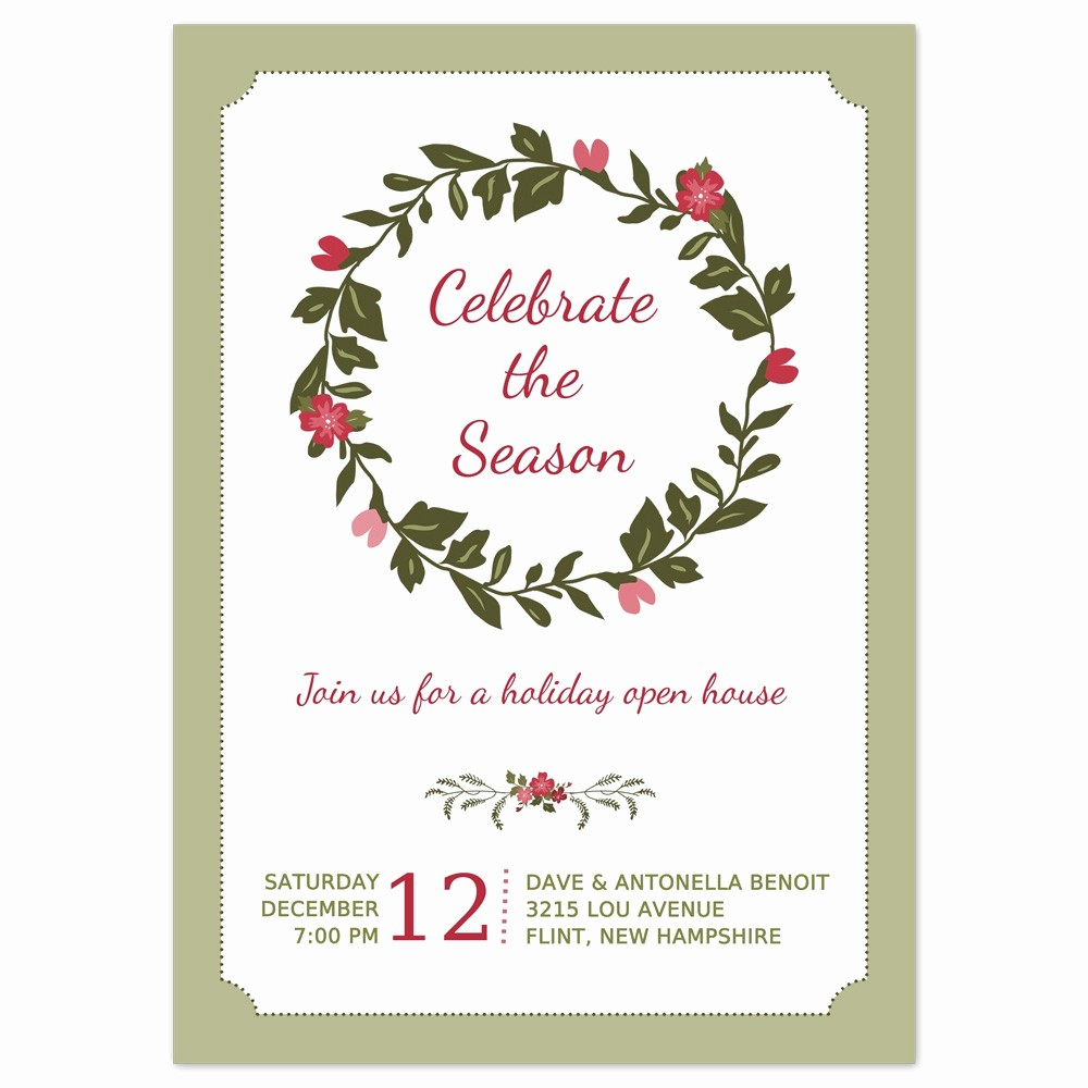 Christmas Party Invitations Free Template Luxury Printable Christmas Party Invitation – Happy Holidays