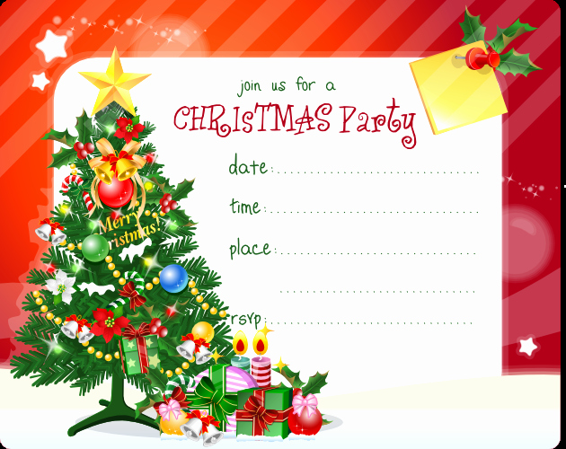 Christmas Party Invitations Free Template New Free Christmas Party Invitation Printable Best Gift