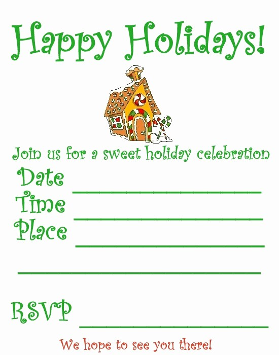 Christmas Party Invitations Free Template Unique 6 Best Of Christmas Party Invitation Printable