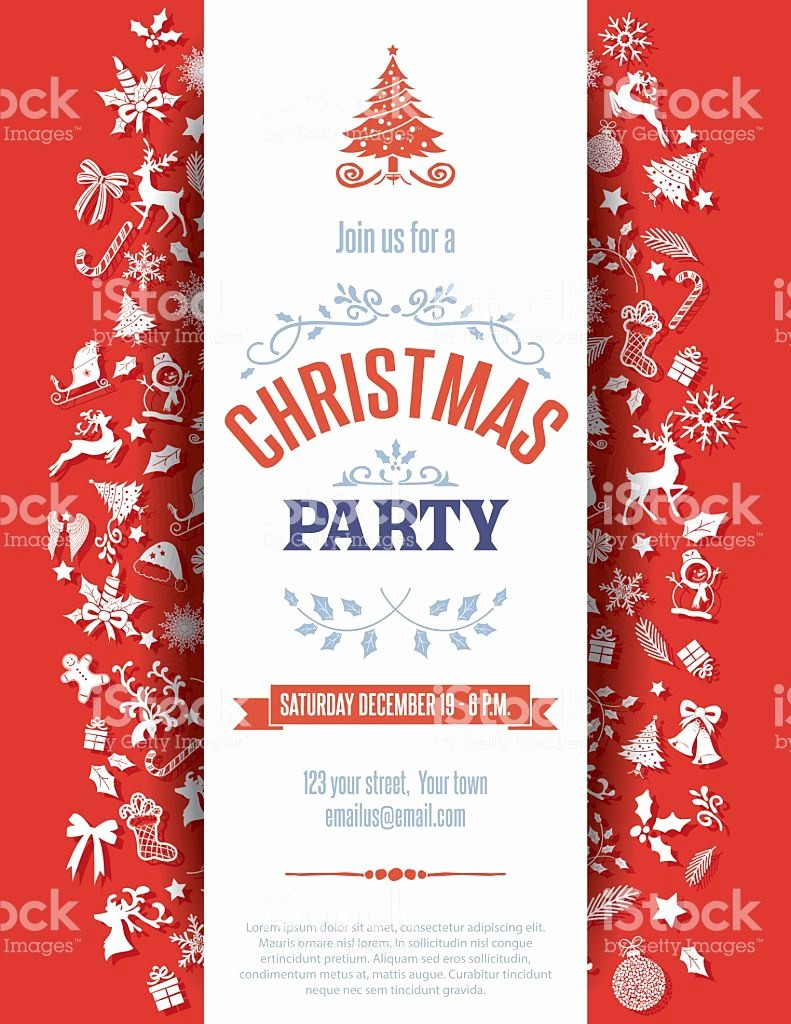 Christmas Party Invitations Free Template Unique Christmas Party Invitation Template Christmas Party