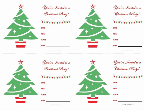 Christmas Party Invitations Free Template Unique Christmas Party Invitations Free Printable