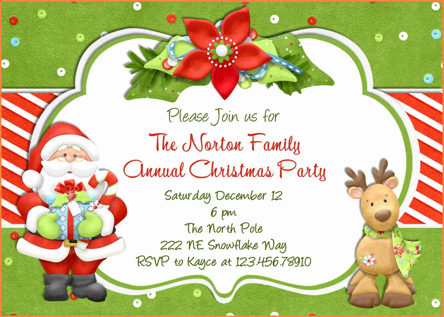Christmas Party Invite Free Template Elegant 15 Christmas Party Invitation Template