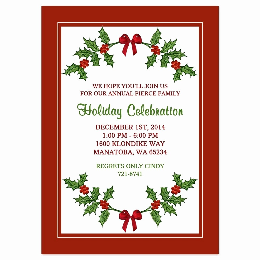 Christmas Party Invite Free Template Elegant Christmas Party Invite Border