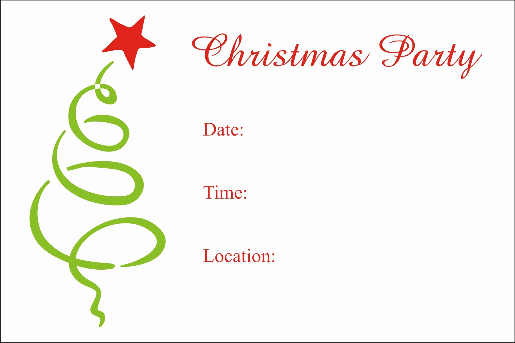 Christmas Party Invite Free Template Fresh Christmas Party Free Printable Holiday Invitation