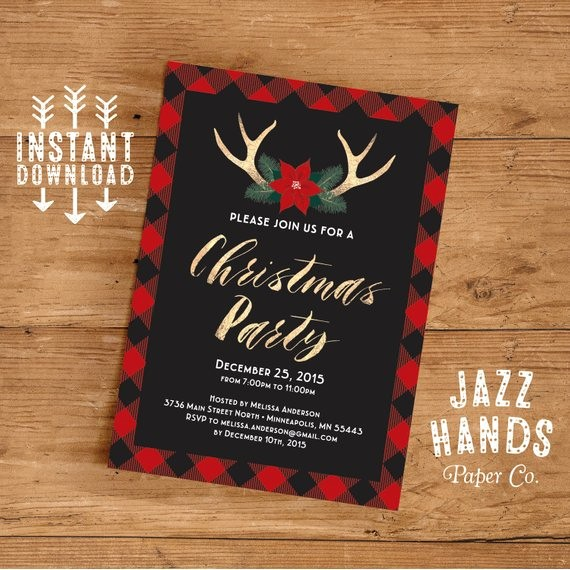 Christmas Party Invite Free Template Fresh Christmas Party Invitation Template Diy Printable Holiday