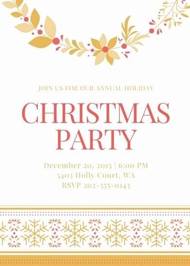 Christmas Party Invite Free Template Fresh Customize 9 046 Invitation Templates Online Canva