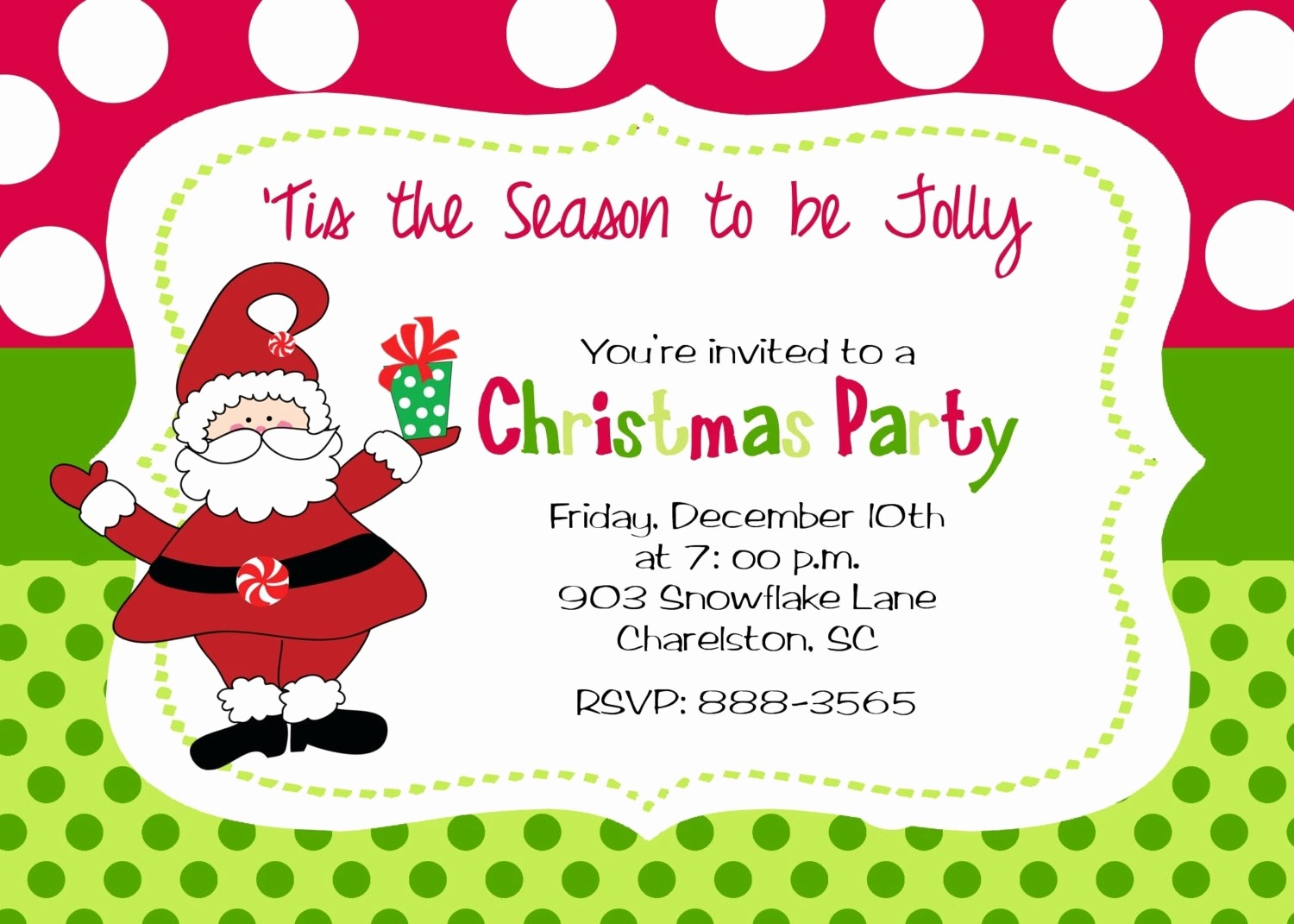 Christmas Party Invite Free Template Fresh Kids Christmas Party Invitations