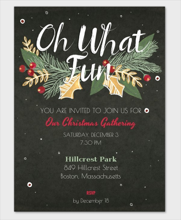 Christmas Party Invite Free Template Inspirational 32 Christmas Party Invitation Templates Psd Vector Ai