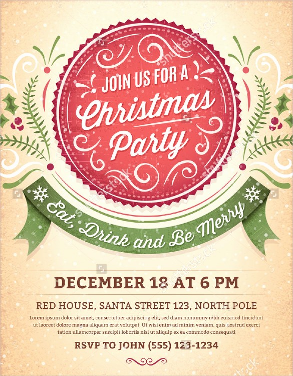 Christmas Party Invite Free Template Lovely 59 Invitation Templates Psd Ai Word Indesign