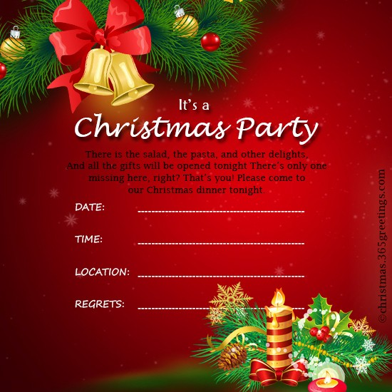 Christmas Party Invite Free Template Lovely Christmas Invitation Template and Wording Ideas