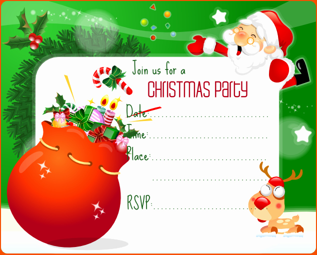 Christmas Party Invite Free Template Luxury 7 Christmas Invitation Template Bookletemplate