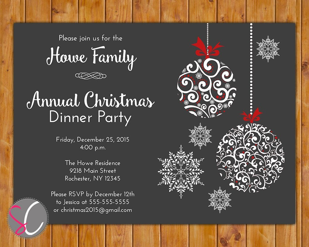 Christmas Party Invite Free Template Luxury Annual Holiday Party Invitation Template Fwauk