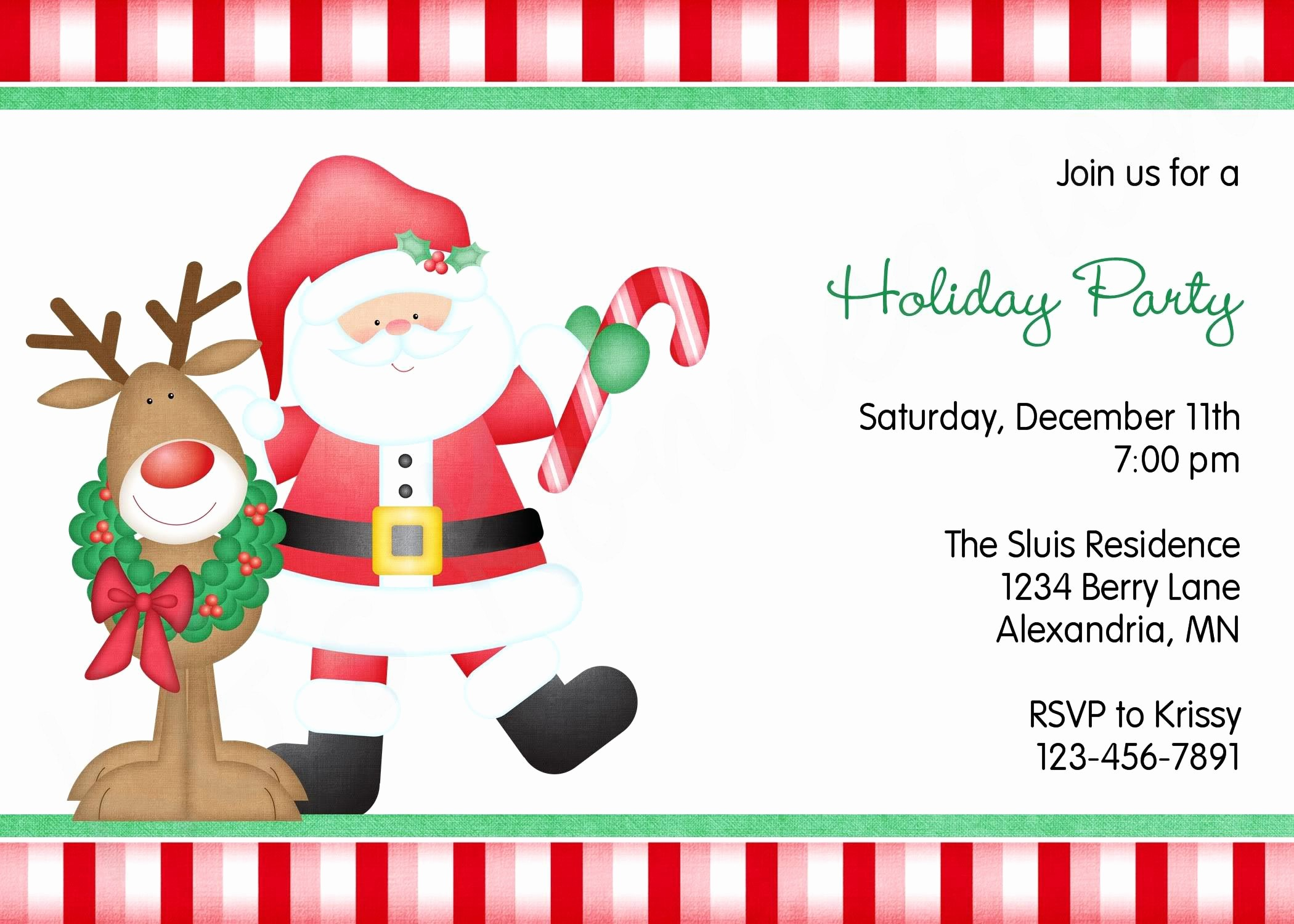 Christmas Party Invite Free Template New Free Christmas Party Invitations
