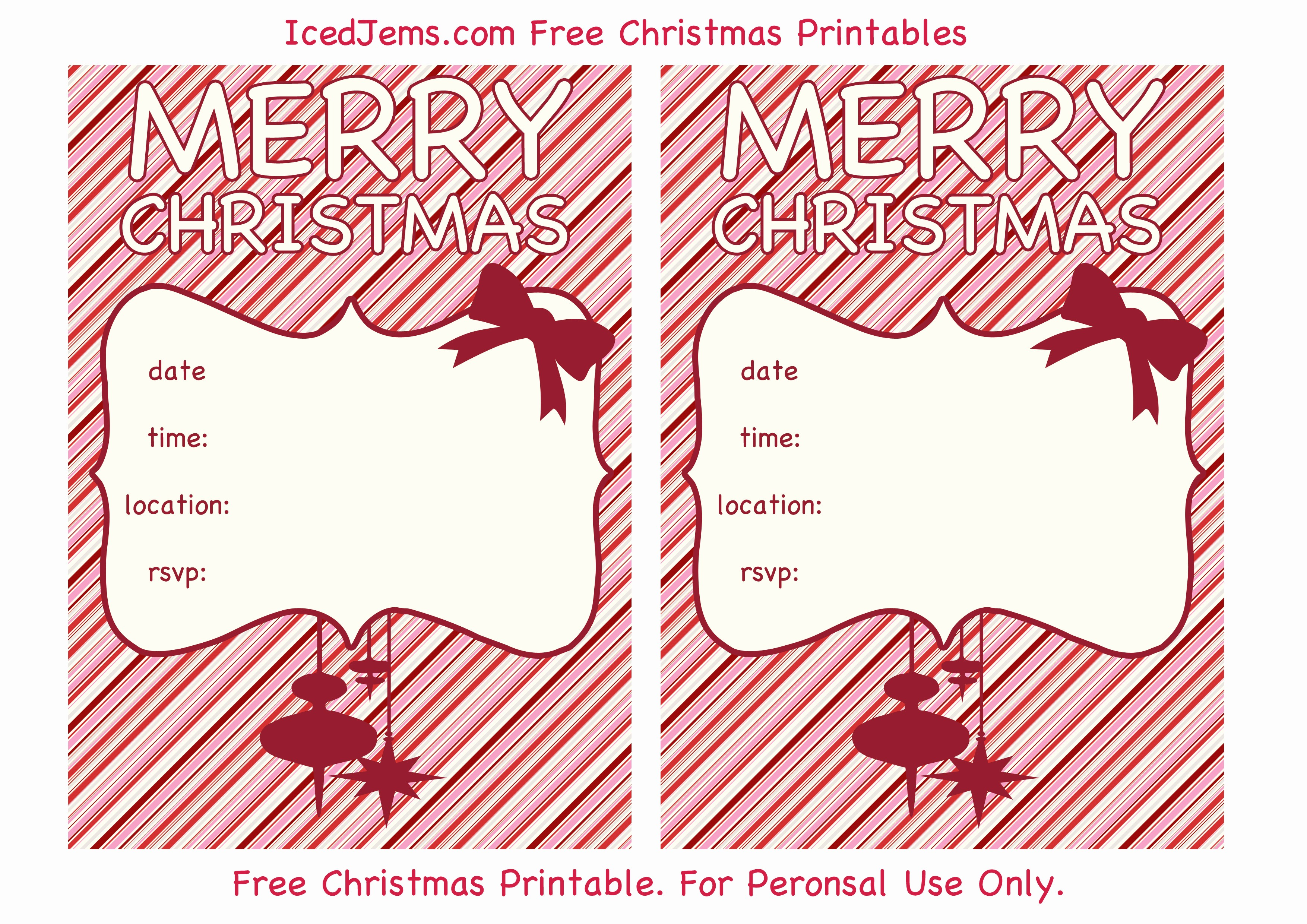 Christmas Party Invite Free Template New Printable Christmas Party Invitations Printable Christmas