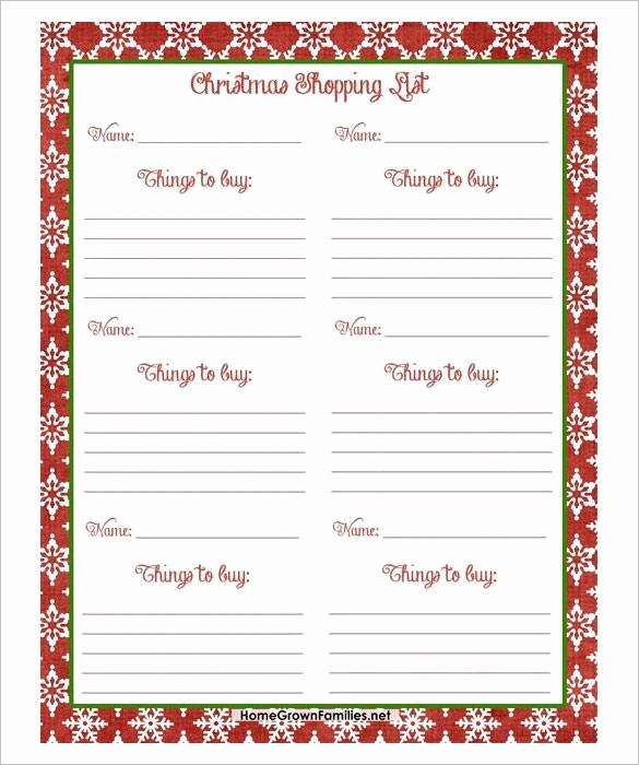 Christmas Shopping List Template Printable Luxury 24 Christmas Wish List Template to Fill Out by Everyone