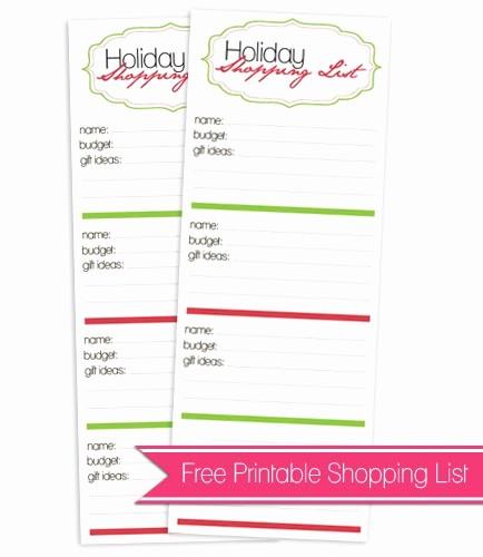Christmas Shopping List Template Printable New 6 Best Of Free Cute Shopping List Printables Free