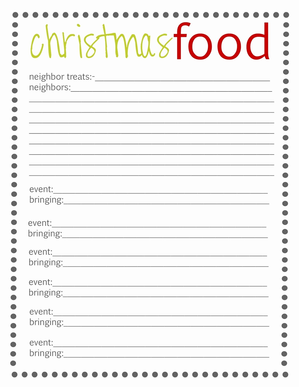 Christmas Sign Up Sheet Templates Awesome Free Potluck Sign Up Template Simple