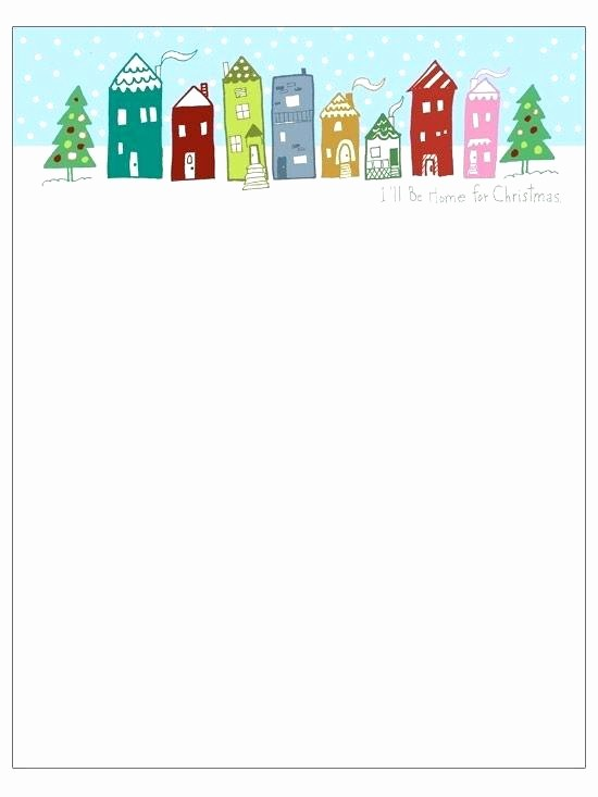 Christmas Stationery Templates Word Free Awesome Christmas Stationary Template All Good Things Letterhead