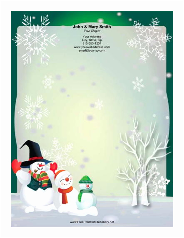 Christmas Stationery Templates Word Free Beautiful 15 Christmas Letterhead Templates Free Word Designs