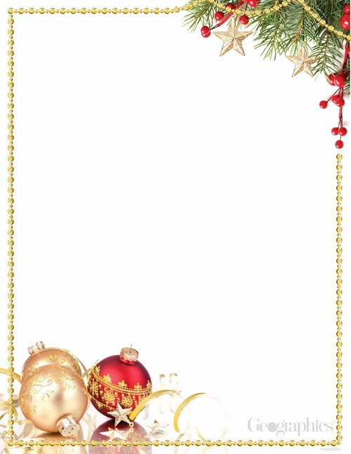 Christmas Stationery Templates Word Free Beautiful Red Gold ornaments Christmas Letterhead Gold Foil W