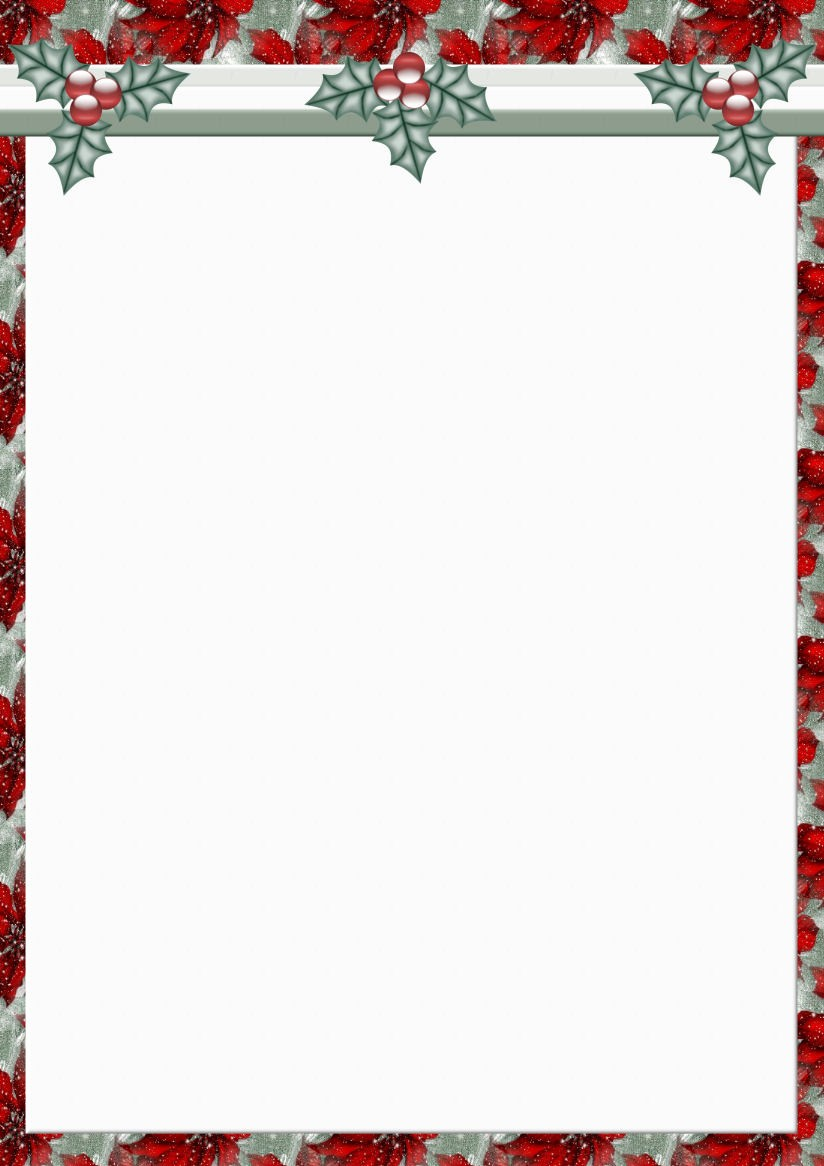 Christmas Stationery Templates Word Free Elegant Downloadable Page Borders for Microsoft Word