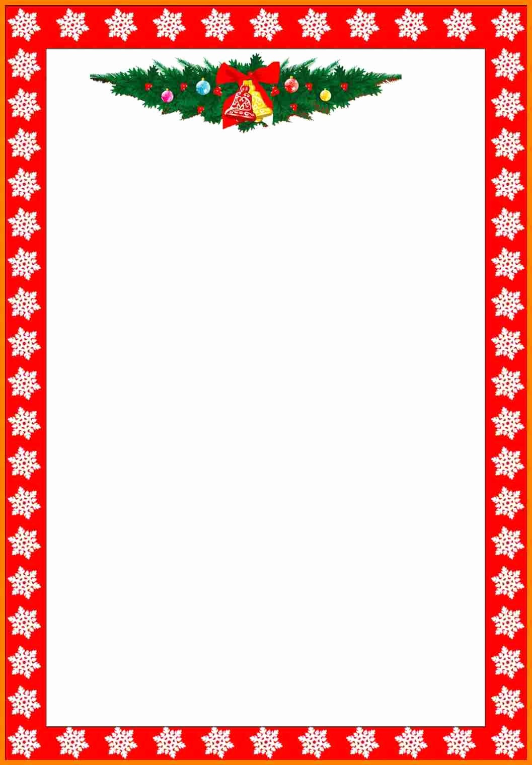 Christmas Stationery Templates Word Free Inspirational 9 Christmas Letterhead Templates Word