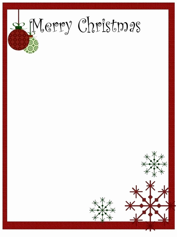 Christmas Stationery Templates Word Free Inspirational Printable Christmas Stationery to Use for the Holidays