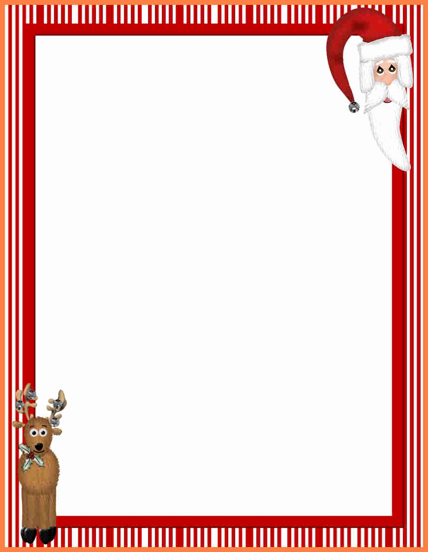Christmas Stationery Templates Word Free Lovely 7 Christmas Letterhead Templates Word
