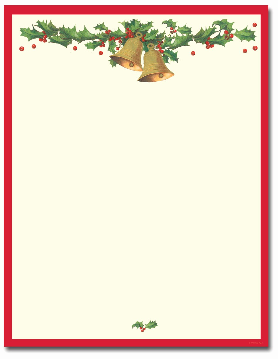 Christmas Stationery Templates Word Free Lovely Antique Bells Letterhead