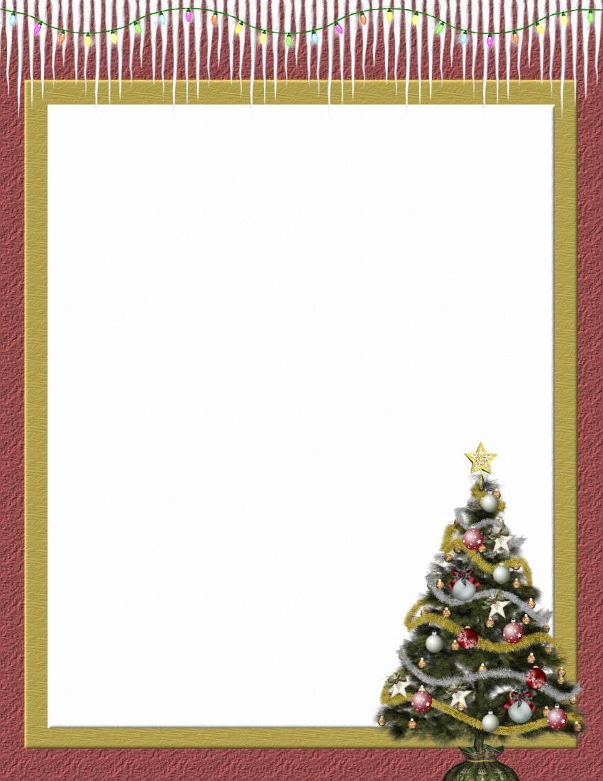 Christmas Stationery Templates Word Free Luxury Christmas 2 Free Stationery Template Downloads