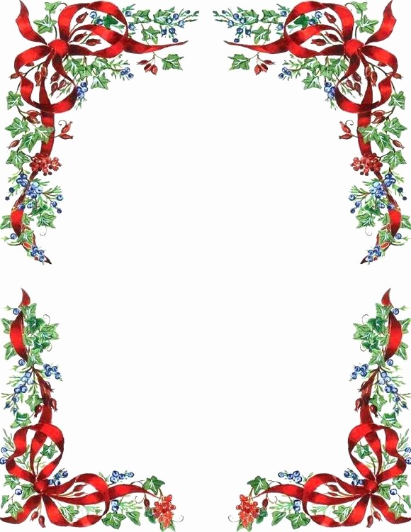Christmas Stationery Templates Word Free Unique Christmas Stationary Template Free Download Sample format