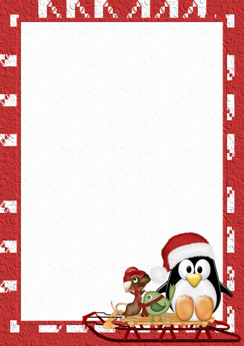 Christmas Stationery Templates Word Free Unique Winter 1 A4 theme Free Digital Stationery