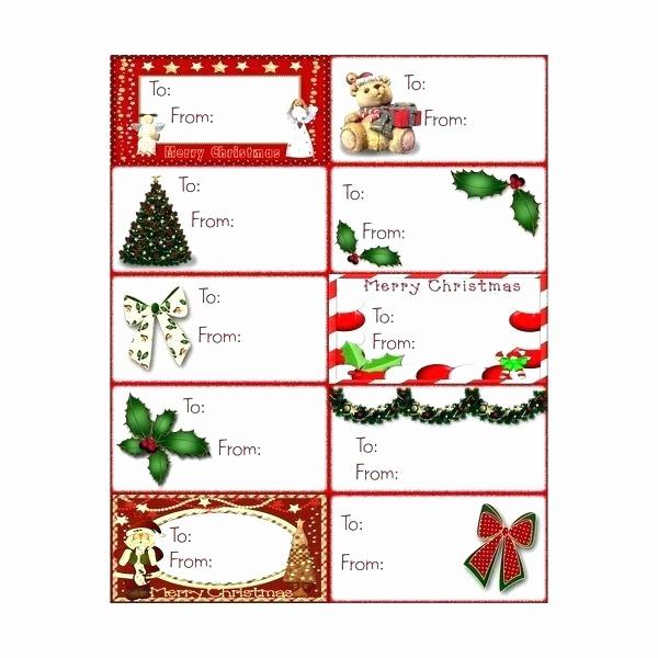 Christmas Tag Templates Microsoft Word Awesome Gift Tags Template Label Templates Printable Microsoft