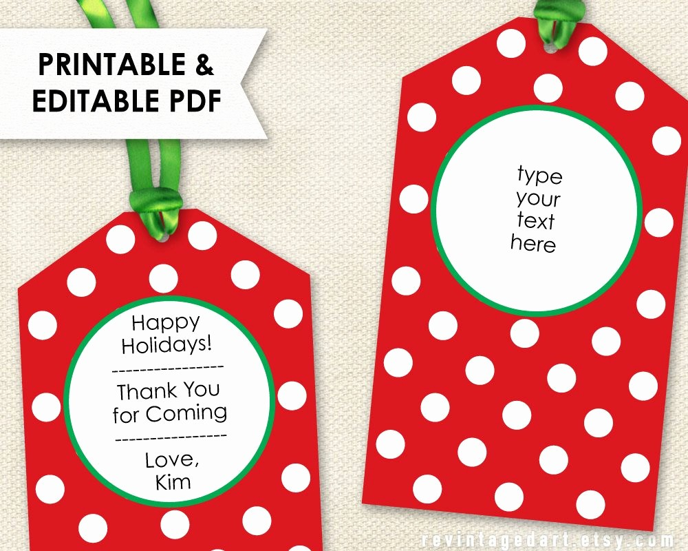 Christmas Tag Templates Microsoft Word Awesome Printable Christmas Tags Editable Holiday Tags Pdf