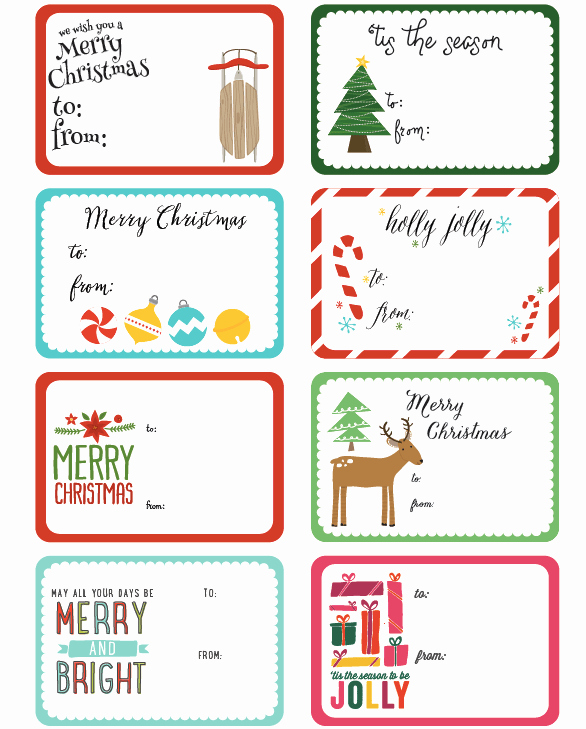 Christmas Tag Templates Microsoft Word Best Of Christmas Gift Tag Template Microsoft Word