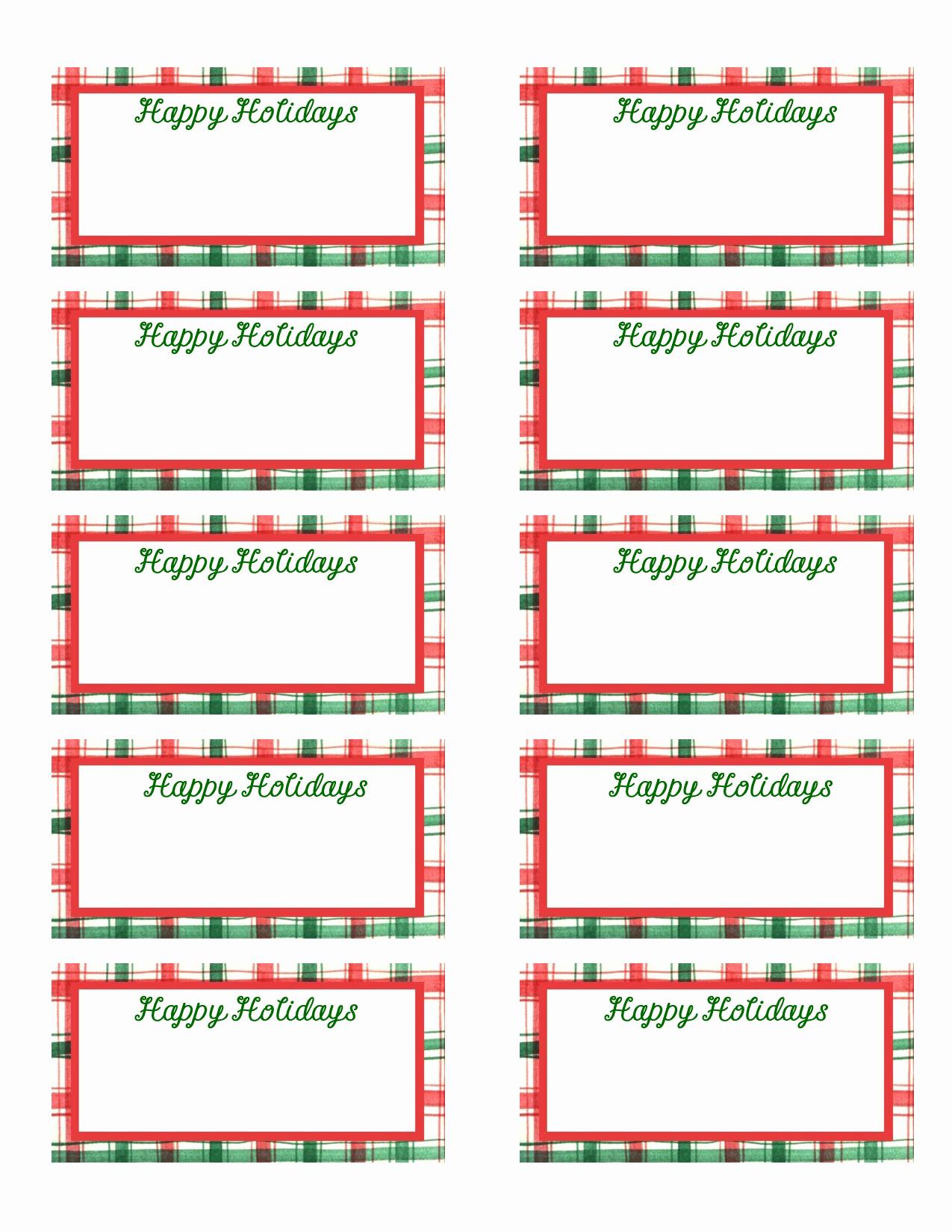 Christmas Tag Templates Microsoft Word Elegant 12 Christmas Gift Tag Templates Free Printable