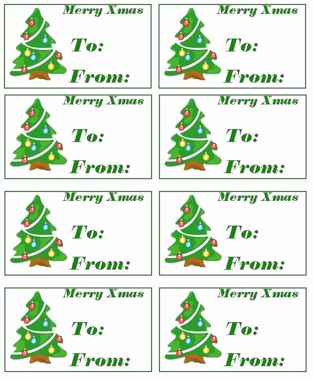 Christmas Tag Templates Microsoft Word Fresh Free Printable Holiday Gift Tags Christmas Tag Template