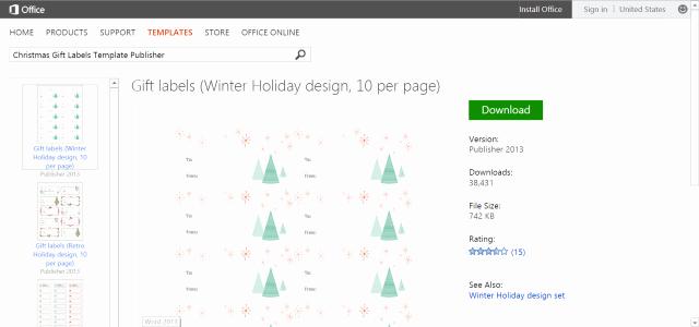 Christmas Tag Templates Microsoft Word Inspirational 6 Best Of Microsoft Fice Templates Christmas
