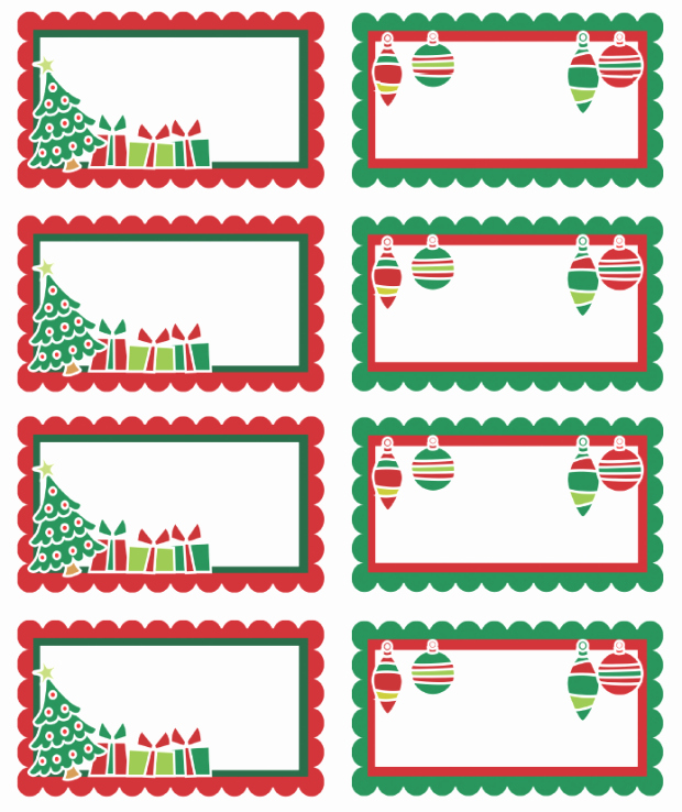Christmas Tag Templates Microsoft Word Inspirational Christmas Labels Ready to Print
