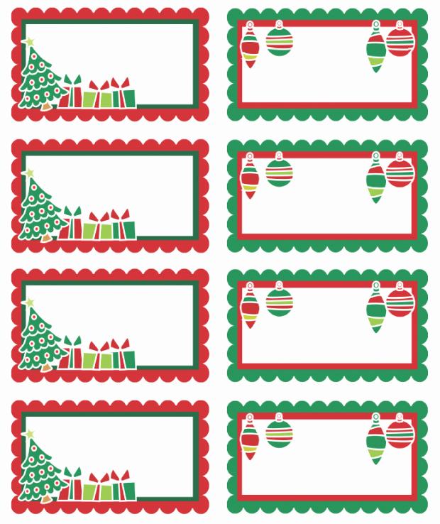 Christmas Tag Templates Microsoft Word Inspirational Christmas Labels Ready to Print