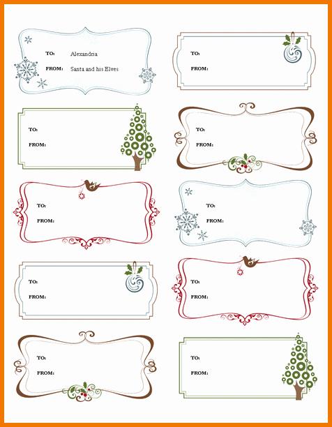 Christmas Tag Templates Microsoft Word Inspirational Template Microsoft Word Labels for Christmas – Fun for