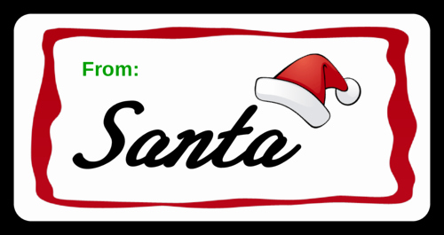 Christmas Tag Templates Microsoft Word Lovely Santa Gift Presents Label Label Templates Ol125