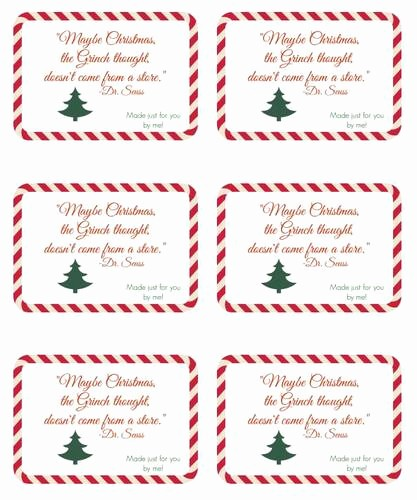 Christmas Tag Templates Microsoft Word Lovely Seuss Handmade Gift Christmas Label Design Label