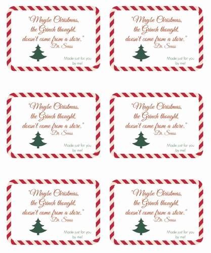 Christmas Tag Templates Microsoft Word Lovely Seuss Handmade Gift Christmas Label Design Label